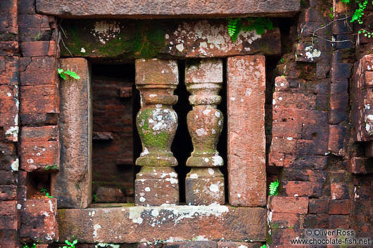 Facade detail of a Champa temple in My Son