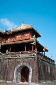 Travel photography:Ngo Mon Gate detail at the Citadel in Hue, Vietnam