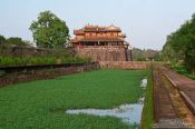 Travel photography:Moat and Ngo Mon Gate at Hue Citadel, Vietnam
