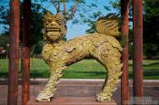Travel photography:Stone sculpture in Hue Citadel, Vietnam