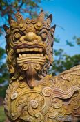 Travel photography:Dog sculpture in Hue Citadel, Vietnam