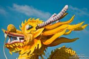 Travel photography:Giant dragon sculpture inside Hue Citadel, Vietnam