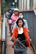 Travel photography:Hue girl on bike , Vietnam