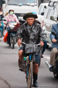 Travel photography:Hue man on bike , Vietnam