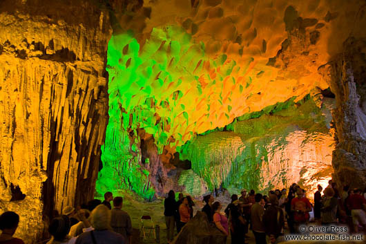Inside Hang Sun Sot Cave in Halong Bay