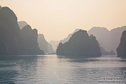 Dusk in Halong Bay