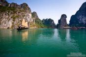 Travel photography:Junk ship in Halong Bay , Vietnam