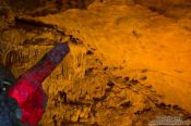 Travel photography:Suggestive rock formation inside Hang Sun Sot Cave in Halong Bay , Vietnam