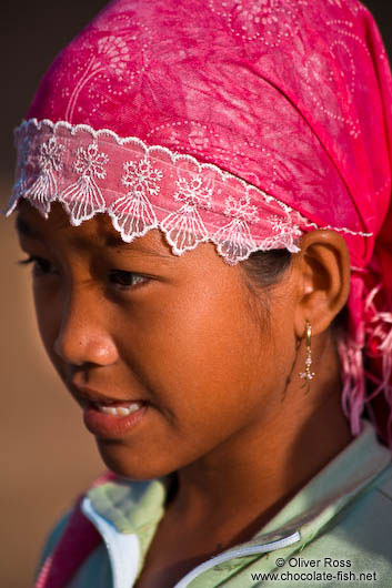 Muslim girl near Chau Doc