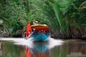 Travel photography:Boat near Can Tho , Vietnam