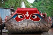 Travel photography:Typical boat design near Can Tho , Vietnam