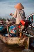 Travel photography:Boat at the Can Tho floating market , Vietnam
