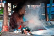 Travel photography:Floating kitchen at the Can Tho floating market , Vietnam