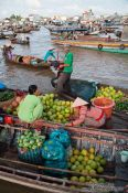 Travel photography:Boats at the Can Tho floating market , Vietnam