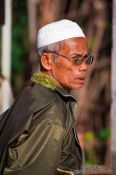 Travel photography:Muslim man near Chau Doc , Vietnam