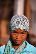 Travel photography:Muslim girl near Chau Doc , Vietnam