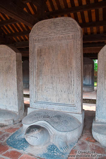 Doctor´s Stelae at the Temple of Literature in Hanoi