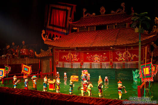 Show at Hanoi´s Water Puppet Theatre
