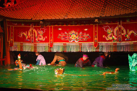 The people behind the puppets at Hanoi´s Water Puppet Theatre