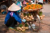 Travel photography:Hanoi fruit vendor , Vietnam