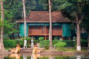 Travel photography:Hoh Chi Minh´s Stilt House in Hanoi, Vietnam