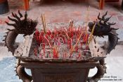 Travel photography:Incese burner in Hanoi´s Temple of Literature , Vietnam