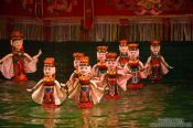 Travel photography:Water ballet at Hanoi´s Water Puppet Theatre , Vietnam