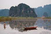 Travel photography:Working a rice field near Tam Coc, Vietnam