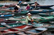 Travel photography:Tourist boats in Tam Coc, Vietnam
