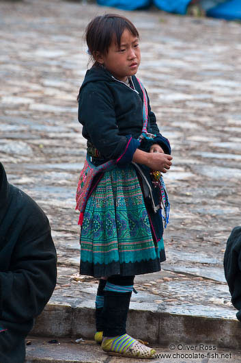 Little Hmong girl in Sapa
