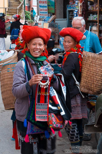 Red Dzao people in Sapa