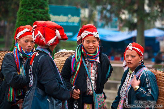 Red Dzao women in Sapa