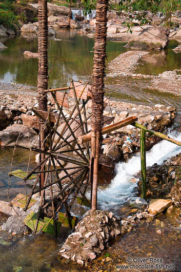 Water wheel in a river near Sapa´s Cat Cat village