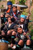 Travel photography:Hmong kids in Cat Cat village near Sapa, Vietnam
