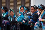 Travel photography:Hmong women meeting for the weekly market in Sapa, Vietnam