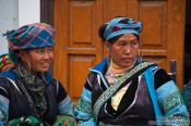 Travel photography:Hmong women at the weekly market in Sapa , Vietnam