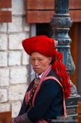 Travel photography:Red Dzao woman in Sapa, Vietnam