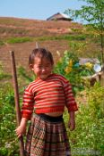 Travel photography:Little girl near Sapa, Vietnam