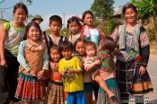 Travel photography:Hmong people near Sapa, Vietnam