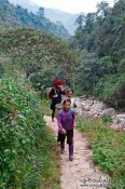Travel photography:Hmong people in the mountains near Sapa, Vietnam