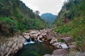 Travel photography:River and mountain landscape near Sapa, Vietnam