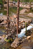 Travel photography:Water wheel in a river near Sapa´s Cat Cat village, Vietnam