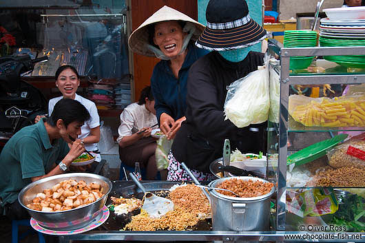 Mobile food stall in Hoh Chi Minh City