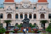 Travel photography:City Hall in Hoh Chi Minh City, Vietnam