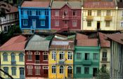 Travel photography:Old houses in Valparaiso, Chile
