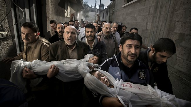 Winning photograph of the 2012 World Press Photo awards by Swedish photographer Paul Hansen